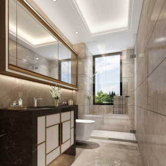 20万以上130平米三室一厅现代简约风格卫生间装修案例