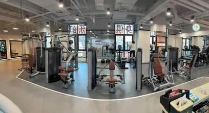 富裕型140平米公装风格健身房图
