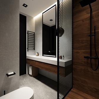 富裕型110平米三室两厅港式风格卫生间图
