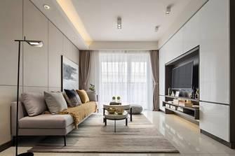 5-10万80平米三室两厅现代简约风格客厅图片