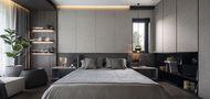 140平米三北欧风格卧室装修效果图