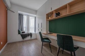 富裕型90平米三室两厅北欧风格书房图