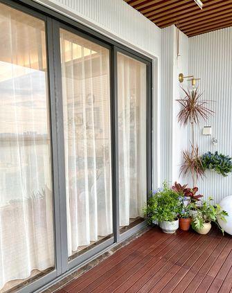 5-10万100平米三室两厅北欧风格阳台欣赏图