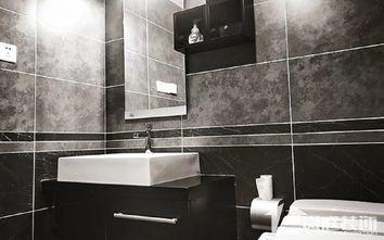 富裕型100平米三室一厅混搭风格卫生间效果图