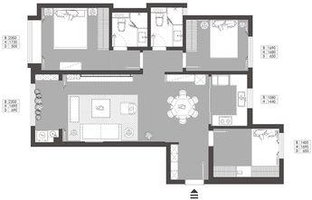 30平米以下超小户型欧式风格客厅效果图
