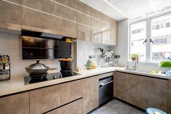 富裕型100平米三室三厅港式风格厨房图片