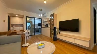10-15万80平米三室两厅现代简约风格客厅效果图