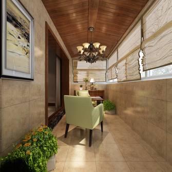 豪华型120平米三室三厅欧式风格阳台装修图片大全