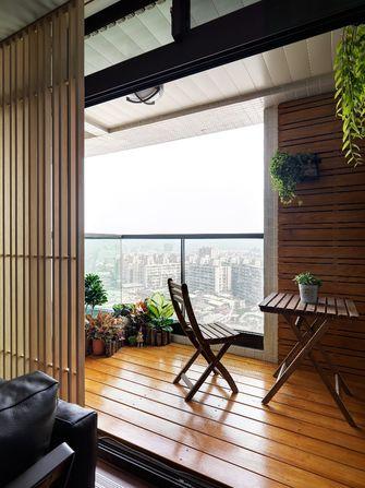 120平米三室一厅混搭风格阳台图片大全