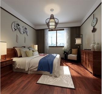 富裕型130平米三室两厅中式风格卧室图