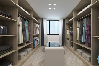 20万以上120平米一室一厅现代简约风格衣帽间装修图片大全