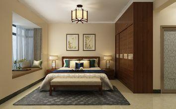 90平米三室两厅中式风格卧室装修效果图