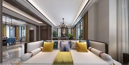 豪华型140平米别墅中式风格客厅欣赏图