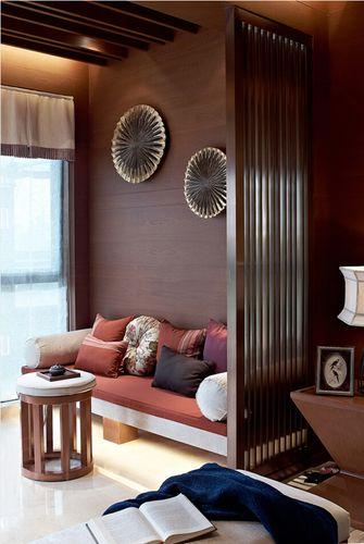 富裕型90平米中式风格阳台图片