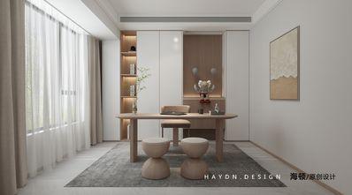 富裕型120平米三室两厅日式风格书房图片