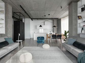 富裕型110平米三室一厅工业风风格客厅图片大全