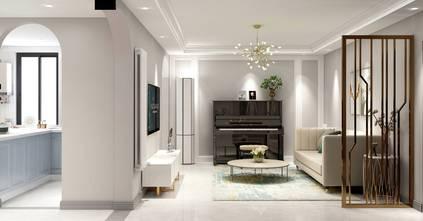 富裕型120平米三室两厅欧式风格客厅图片