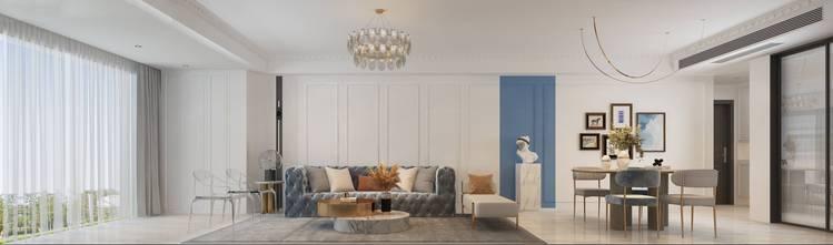 富裕型100平米三室两厅法式风格客厅欣赏图