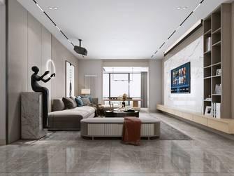 140平米三室四厅轻奢风格客厅图片大全