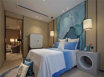 富裕型100平米三室一厅中式风格卧室图片