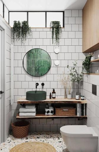 富裕型50平米一室一厅欧式风格卫生间装修效果图