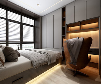 豪华型140平米四现代简约风格青少年房设计图