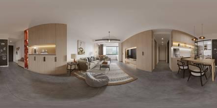 富裕型100平米三室八厅日式风格客厅效果图