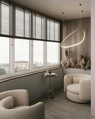 110平米现代简约风格阳台装修案例