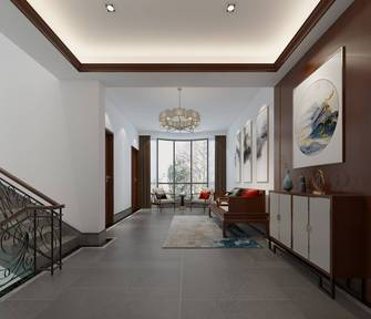 20万以上140平米别墅中式风格楼梯间设计图