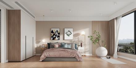 富裕型110平米三室两厅北欧风格卧室装修效果图