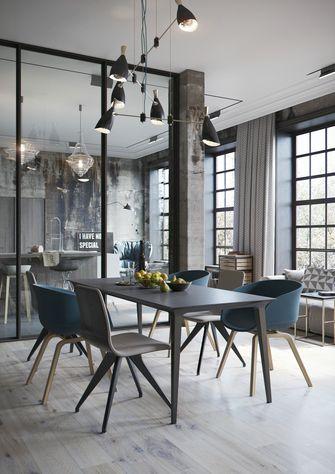 豪华型140平米三室一厅工业风风格餐厅装修图片大全