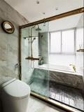 富裕型100平米三室两厅法式风格卫生间欣赏图