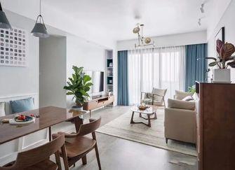 富裕型80平米三北欧风格客厅装修图片大全