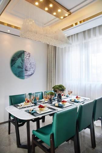 富裕型140平米四室三厅轻奢风格餐厅装修图片大全