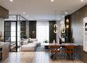 5-10万50平米一室一厅北欧风格餐厅设计图