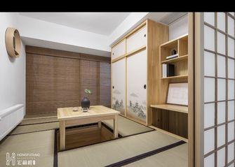 富裕型100平米三室两厅日式风格书房图