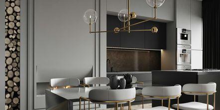 10-15万120平米四室三厅现代简约风格餐厅装修图片大全