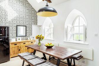 富裕型130平米四室两厅田园风格餐厅设计图