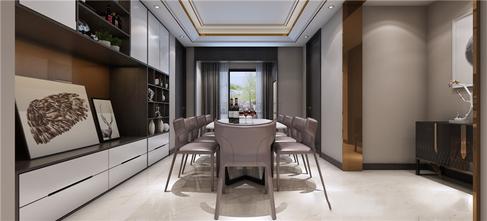 富裕型140平米四室三厅现代简约风格餐厅图片大全