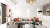 富裕型130平米三室两厅法式风格客厅图片