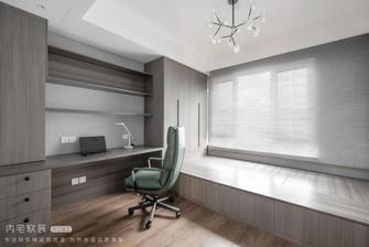 富裕型130平米三室两厅混搭风格书房图片大全