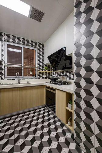 富裕型110平米三室两厅北欧风格厨房图片大全