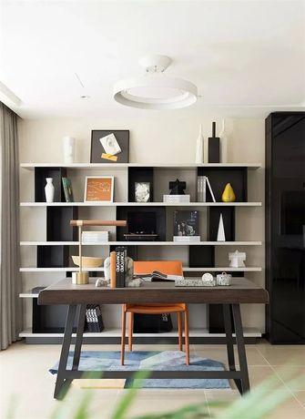 富裕型130平米三室两厅现代简约风格书房设计图