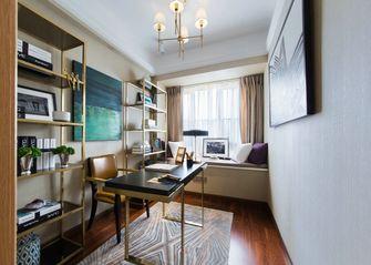 富裕型140平米三室两厅新古典风格书房图片
