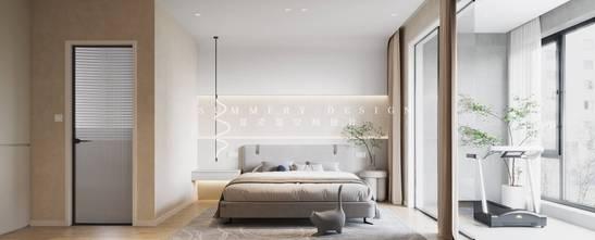10-15万130平米现代简约风格卧室图