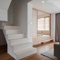 富裕型140平米复式日式风格楼梯间欣赏图