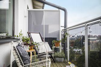 5-10万60平米一室一厅北欧风格阳台图