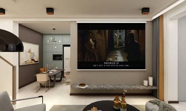 130平米四现代简约风格客厅设计图