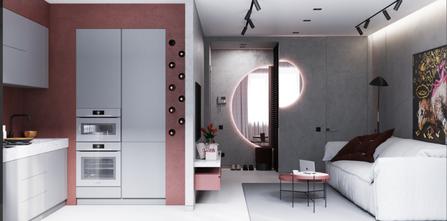 50平米混搭风格客厅装修效果图