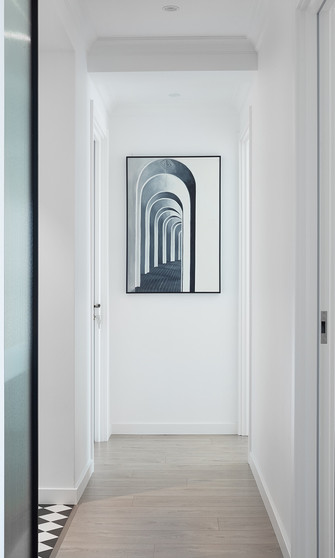 富裕型90平米三室两厅美式风格玄关效果图